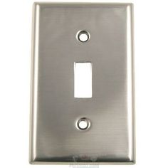 Rusticware Hardware - Switchplates - Single Toggle Switchplate in Satin Nickel