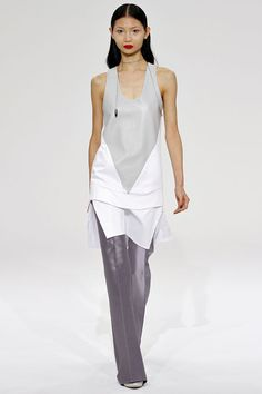 Dean Quinn spring '13: sleeveless tunic over wide-leg trousers