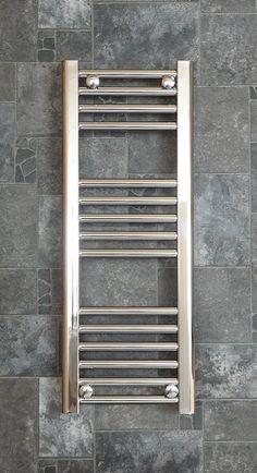 Stunning chrome heated towel rails compliment any luxury bathroom