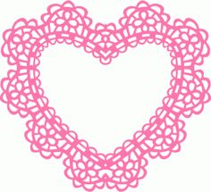 Silhouette Online Store - View Design #38690: intricate heart doily frame
