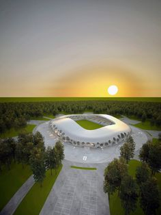 Image 38 of 38 from gallery of In Progress: FC Bate Borisov Football Stadium / OFIS. Soccer Stadium, Football Stadiums, Seahawks Stadium, Beautiful Buildings, Architecture, Around The Worlds, Exterior, Gallery, Pictures