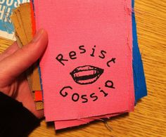 Patch #092: Resist Gossip - by Microcosm Publishing, a wonderful place full of zines, books, shirts, patches, and more.