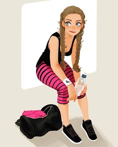 #workout #gym #rest #character #design #art
