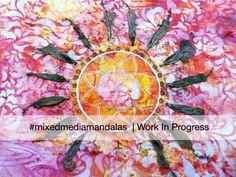 Sunset Mandala work in progress #mixedmediamandalas http://louisegale.com/workshops/mixed-media-mandala-online-class/