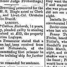21 Sep 1899 - QUARTER SESSIONS. TUESDAY, SEPT. 19. (Before his...