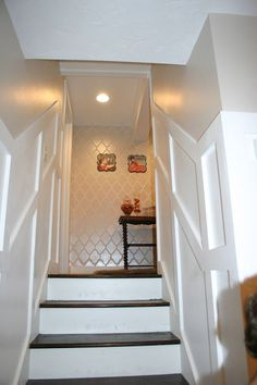 a basement update tour, basement ideas, home decor, bottom of stairs leading out of the basement