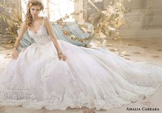 amalia carrara eve of milady 2014 ball gown with straps wedding dress style 329 ad shoot