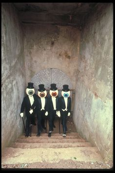 The Residents. I saw them in concert in February 1986 (or 87), and it was the most befuddling show I've ever seen.