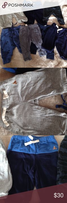 Baby Gap super soft pants bundle All used and in very good condition. All 7 pairs of pants are by Baby Gap!  All super soft and all same size Baby Gap Bottoms
