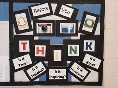 Middle school counseling bulletin board