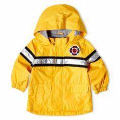 Off the Carter's Fireman Rain Jacket - Boys Toddler Boy Outfits, Toddler Boys, Clothing Deals, Slipcovers, Motorcycle Jacket, Rain Jacket, Kids Fashion, Windbreaker, Firetruck