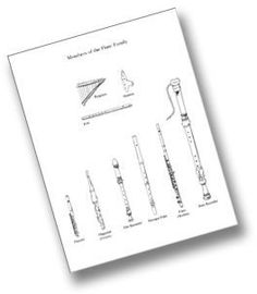 Free Printables - Families of the Orchestra
