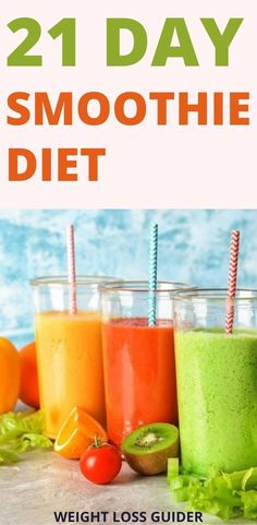 Want to lose weight with smoothies? Here are the 21 day Smoothie diet recipes for weight loss fat burning, these smoothies recipes are simple to make and easy to consume and these weight loss smoothies is also a meal replacement alternative, you can consume at any time like smoothies breakfast, smoothies lunches, smoothies dinner. For more smoothies recipes follow us on weight loss guider- Smoothies Recipes/ weight loss smoothies. #smoothiediet #smoothierecipes #smoothiesrecipes Smoothie Diet Plans, Lunch Smoothie, Weight Loss Smoothie Recipes, Smoothie Cleanse, Healthy Smoothies, Easy Weight Loss, Weight Loss Program, Lose Weight, Fiber Snacks