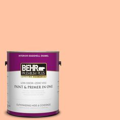 BEHR Premium Plus 1-gal. #P200-3 Tomorrow's Coral Eggshell Enamel Interior Paint