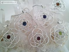 Silver Flower of life Necklaces