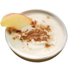 Snack    1 small apple, sliced  1/2 cup nonfat plain yogurt sprinkled with 1/4 tsp cinnamon*    *A sprinkle of cinnamon may boost weight loss, according to a study by the USDA. The spice's polyphenols help regulate blood sugar, keeping hunger pangs at bay.    Total: 148 calories