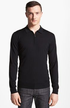 Salvatore Ferragamo Half Zip Polo Sweater | Nordstrom