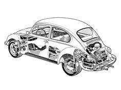 1976-unknown Volkswagen Beetle (Type 1) - probably illustrated by Terry Davey