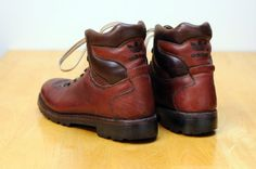 Vintage Mens Adidas Leather Hiking Boots by StyleEngineeringCo, $80.00