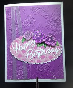 """Inside, """"It's Your Day, Enjoy! Handmade Greetings, Greeting Cards Handmade, Birthday Greetings, Ark, Frame, Floral, Design, Decor, Picture Frame"""
