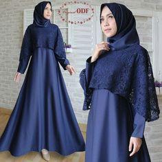 Hijab Prom Dress, Dress Brukat, Muslimah Wedding Dress, Hijab Style Dress, Dress Outfits, Kebaya Hijab, Kebaya Dress, Batik Fashion, Hijab Fashion