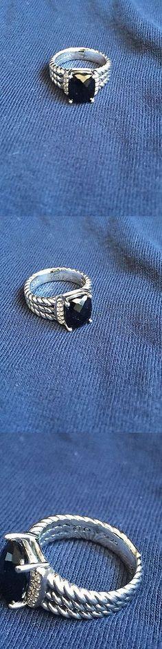 Gemstone 164343: David Yurman Sterling Silver Petite Wheaton Black Onyx Ring -> BUY IT NOW ONLY: $210 on eBay!