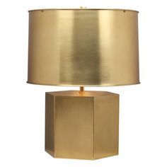 Obsessed with this brass metal hexagon lamp with metal shade.  Love. http://cococozy.com