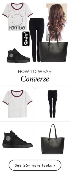 """Fab"" by hannahmcpherson12 on Polyvore featuring H&M, Forever New, Converse and Yves Saint Laurent"