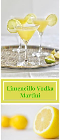 It is very easy to create a fresh Limini Limini Martini. Simply mix and shake the vodka, limencillo, sugar and lemon juice and pour them in cold martini Limoncello Cocktails, Lemon Martini, Vodka Martini, Martinis, Martini Bar, Refreshing Cocktails, Summer Drinks, Fun Drinks, Daisies