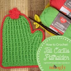 Crochet your very own Tall Cactus Potholder with right and left-handed video tutorials on Moogly! Links to the written pattern and all the supplies included! Crochet Hood, Diy Crochet, Crochet Tutorials, Knitted Throws, Knitted Hats, Tall Cactus, Crochet Cactus, Crochet Potholders, Work Inspiration