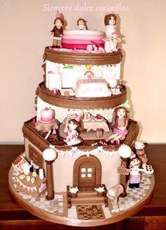 "Tarta ""Cumpleaños en casa"".Cake ""Birthday at home"". First local award.Wilton Contest. - Cake by Siempre dulce cocinillas"