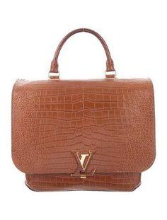 a7b5505725 Brown Crocodile Louis Vuitton Flap Bag