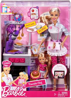 Barbie & Chelsea - Pancake Chef 👩‍🍳👩‍🍳 (I Can Be) # ? - Shoe Tutorial and Ideas Barbie Doll Set, Barbie Sets, Barbie Doll House, Doll Clothes Barbie, Barbie Dream House, Barbie I, Barbie And Ken, Doll Toys, Barbie World