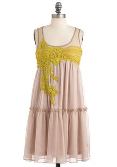 Everything Will Be Applique Dress