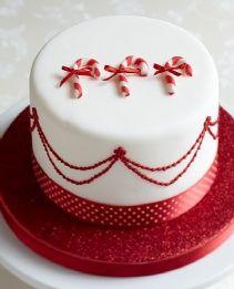 38 Ideas cake decoration christmas candy canes for 2019 Mini Christmas Cakes, Christmas Cake Designs, Christmas Cake Decorations, Holiday Cakes, Noel Christmas, Christmas Candy, Christmas Desserts, Christmas Baking, Xmas Cakes