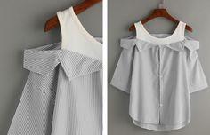 Блузка из майки и рубашки / Блузки / ВТОРАЯ УЛИЦА