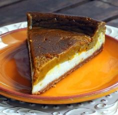 Two Layer Pumpkin Pie Cheese Cake! #Food #Drink #Musely #Tip