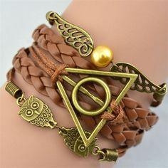 Harry Potter Deathly Hallows Owl Wings Bracelet