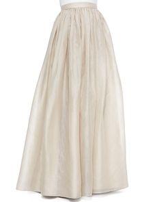 Bridal skirt floor length maxi organza full skirt 2 by Gorgones