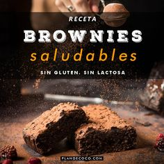 Brownie sano y nutritivo » P L A N D E C O C O Healthy Sweet Snacks, Healthy Deserts, Healthy Sweets, Vegan Desserts, Sweets Recipes, Baking Recipes, Healthy Brownies, Light Snacks, Sin Gluten