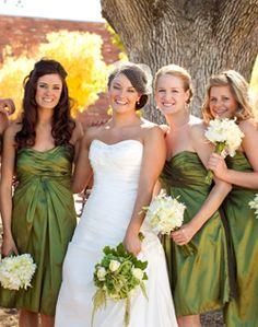 WeddingChannel Galleries: Green Bridesmaid Dresses