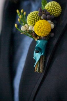 This might be a good option since Stu doesn't like traditional boutonnieres