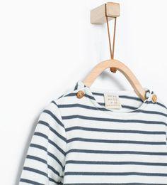 Organic cotton striped T-shirt from Zara
