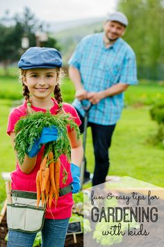 Fun and easy tips for gardening with kids. Want to test out your kid's green thumb, but have no idea how to start? With this easy list of Gardening for Kids, you will be able to help them start!