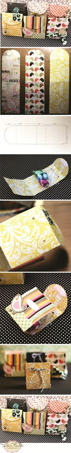 make 3 cards/bags with a single piece of scrapbooking paper :)