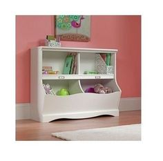 Children Bookshelf Kids Bookcase Organizer Storage Bedroom Furniture Shelf White #Sauder