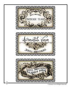 Free Harry Potter Halloween labels.
