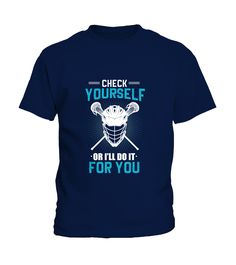 LaX Check Yourself Lacrosse (Kid T-Shirt - Navy) lacrosse girls hair, lacrosse girls workouts, lacrosse mens #LacrosseWrap #lacrossewi #Lacrossedotcom, back to school, aesthetic wallpaper, y2k fashion Lacrosse Quotes, Workouts, Kid, Navy, Wallpaper, School, Check, Girls, Mens Tops