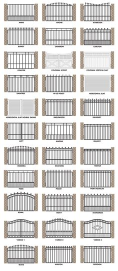 Brisbane Gates offers the following gate designs: