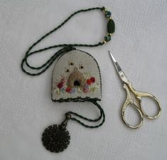 Thread Cutter from 'Home Sweet Home' project by Carolyn Pearce ~ embroidered by Janet Granger
